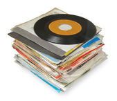 Close up of Old Vinyl Records — Photo