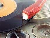 Detail shot of a record player — Stok fotoğraf