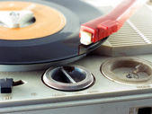 Detail shot of a record player — Foto Stock