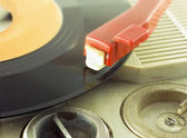 Detail shot of a record player — Stock Photo