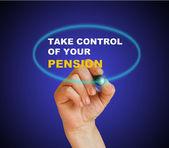 Ta kontroll över din pension — Stockfoto