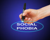 Social phobia — Stock Photo