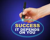 Sucesso, depende de você — Fotografia Stock