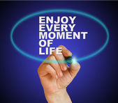 Enjoy every moment of life — Stock Photo