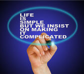 Life is simple but we insist on makingit complicated — Stock Photo