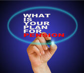 WHAT IS YOUR PLANE FOR PENSION — Stock Photo