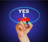 Evet yapabilirim — Stok fotoğraf