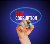 STOP CORRUPTION — Stock Photo