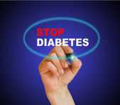 остановите диабет — Стоковое фото