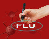 Flu made in 2d software — Stock Photo