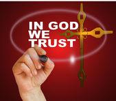 IN GOD WE TRUST — Stock Photo