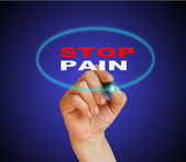 STOP PAIN — Stock Photo