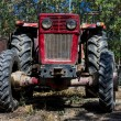 Front of a farm tractor — Stock Photo