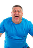 Portrait of a man screaming — Stock Photo