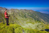 Turismo en vista y tomando fotos — Foto de Stock