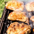 Chicken meat on the grill  — Stock Photo