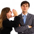 Two business colleagues having an argument — Stock Photo