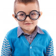 Portrait of a cute little boy wearing funny glasses — Stock Photo #28108545