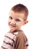 Closeup portrait of a happy cute little boy — Stock Photo
