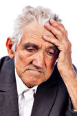 Portrait of a thoughtful old man — Stock Photo
