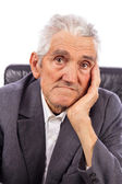 Portrait of an expressive old man — Stock Photo