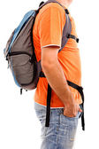 Man with backpack — Fotografia Stock