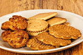 Variety of cookies on plate — Stock Photo