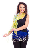 Portrait of a beautiful belly dancer  — Stock Photo