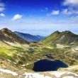 Beautiful summer landscape with lake from Fagaras mountains — Stock Photo #51321557