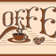 The word coffee - Stock Vector
