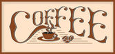 The word coffee — Stock Vector