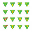 Icon set Green triangles ecology — Stock Vector