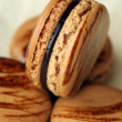 Stock Photo: Coffee macaron