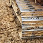 Excavator tracks. — Stock Photo