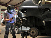 Car welding. — Stock Photo