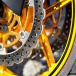 Motorcycle brake disc. — Stock Photo #15017175