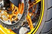 Motorcycle brake disc. — Stock Photo