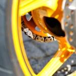 Motorcycle brake disc. — Stock Photo #15022393