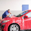 Man washing a car — Stock Photo