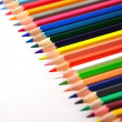 Colorfull crayons on white background — Stock Photo #17860299