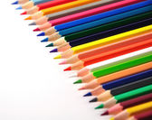 Colorfull crayons on white background — Stock Photo