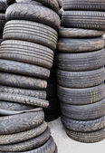 Old used tires — Stock Photo