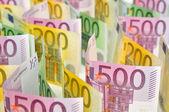 Euro paper money background. — Stock Photo