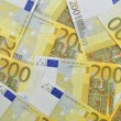 Euro paper money background. — Stock Photo