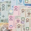Polish paper money background. — Stock Photo #18651663