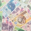 Polish paper money background. — Stock Photo