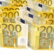 200 euro banknotes. — Stock Photo