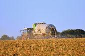Tractor wirh sprayer. — Stock Photo