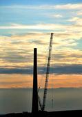 Wind turbine under construction. — Stock Photo
