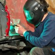 Stock Photo: Welding car body.